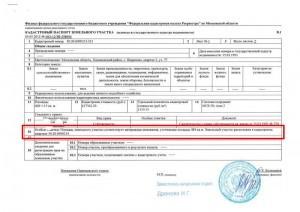 Кадастровый паспорт участка