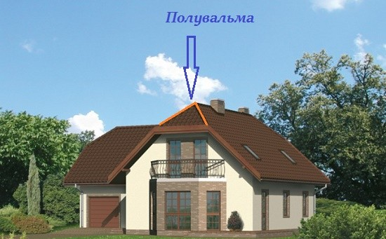 Полувальмовые крыши