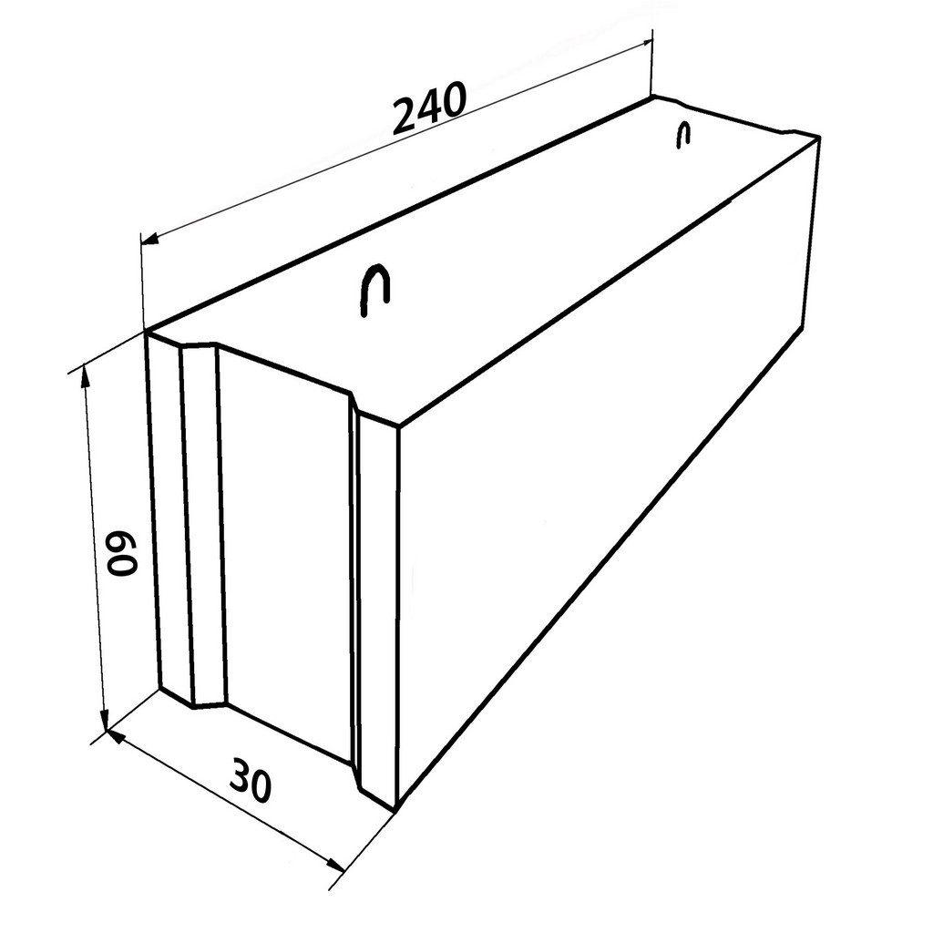 Фундаментный блок 240-30-60 для бани
