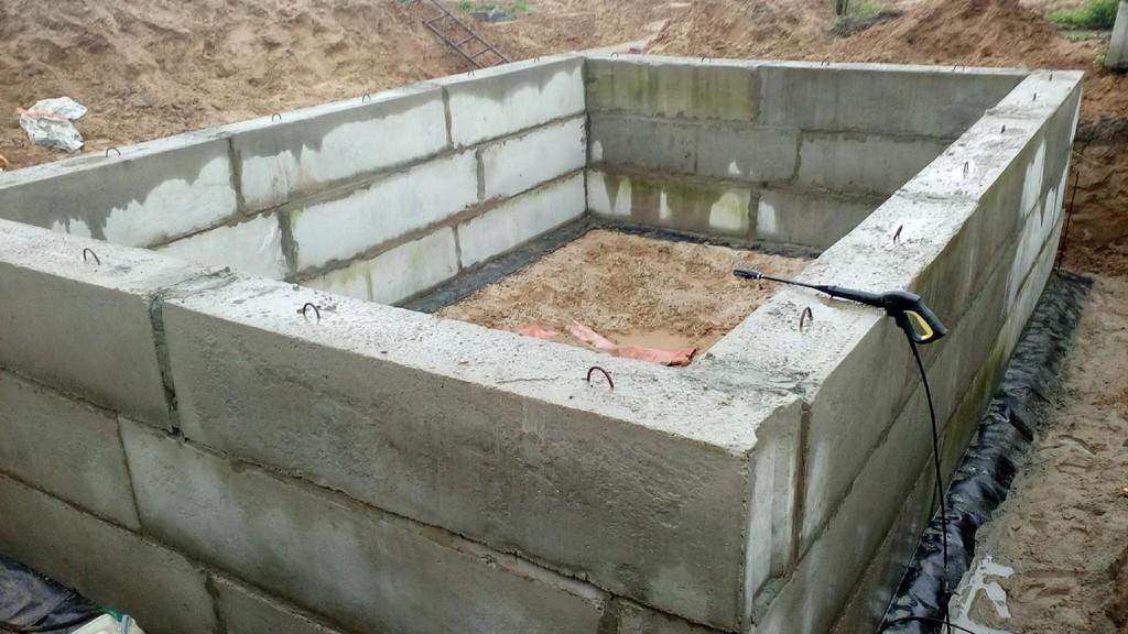 Фундамент из блоков фбс для бани