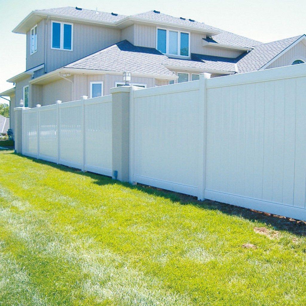 Ограда из пластика для частного дома