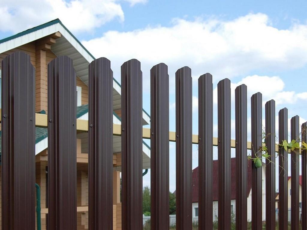 Забор из евроштакетника с промежутками 5 см